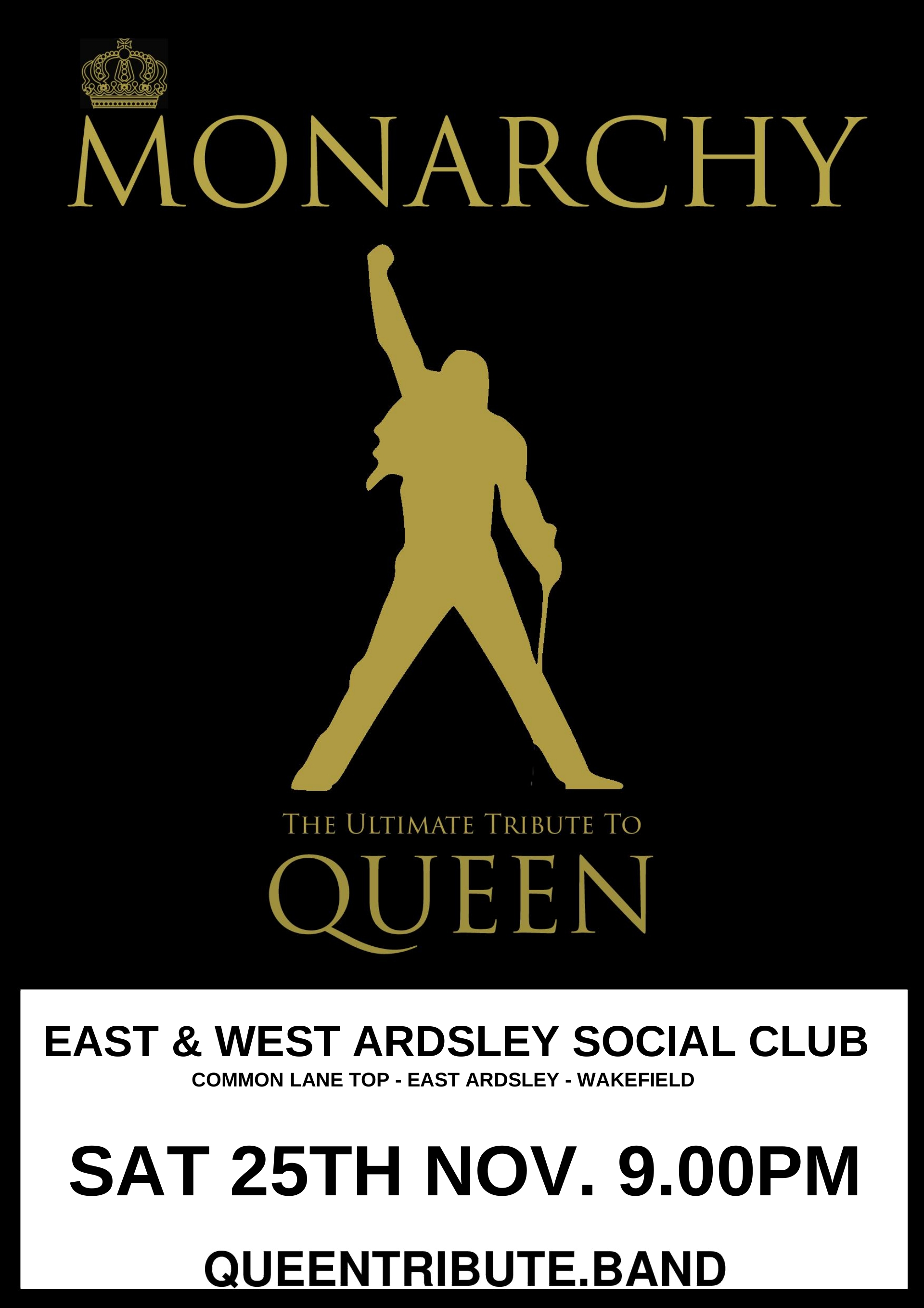 Queen Tribute Gig – Ardsley | Monarchy Queen Tribute Band